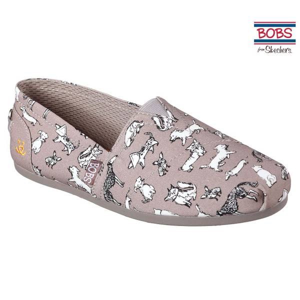 Women's Taupe Bobs Plush Dream Doodle Shoes