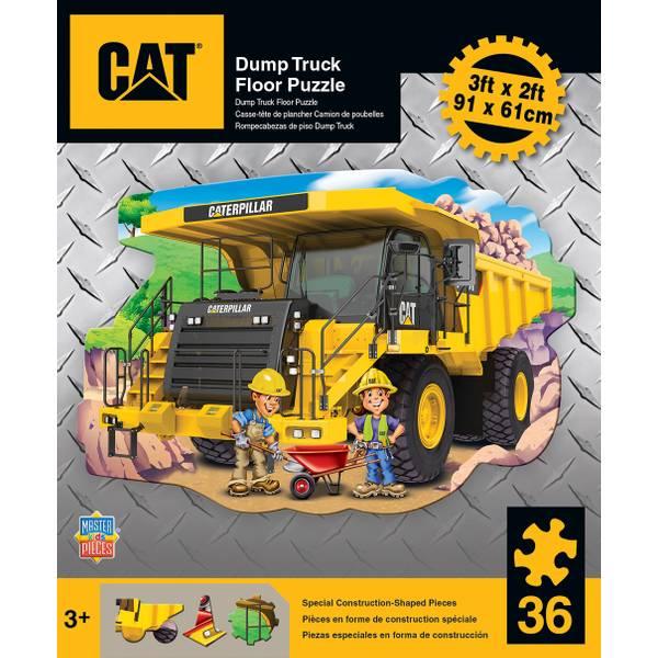 CAT Dump Truck Floor Puzzle