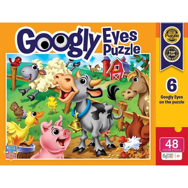 48-Piece Kids Googly Eyes Puzzle