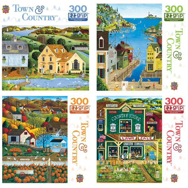 300-Piece Town & Country Puzzle Assortment
