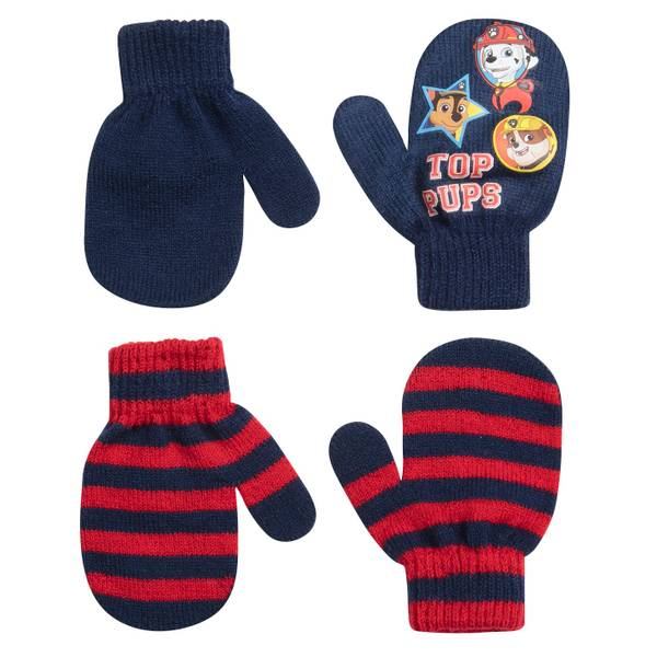 Toddler Boy's Paw Patrol Top Pups Mittens 2-Pack