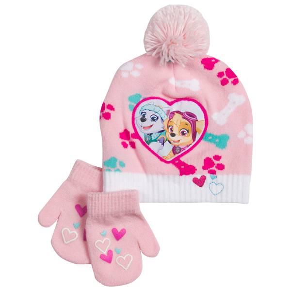 Toddler Girl's Paw Patrol Beanie & Mittens Set