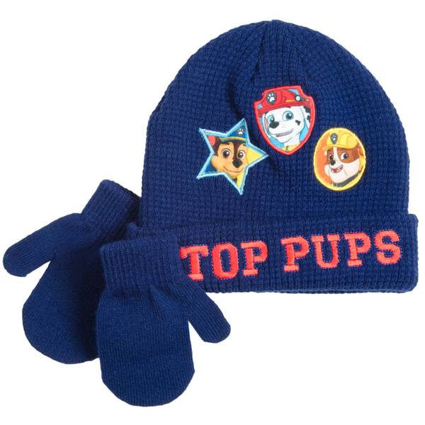 Toddler Boys' Top Pups Beanie & Mittens Set