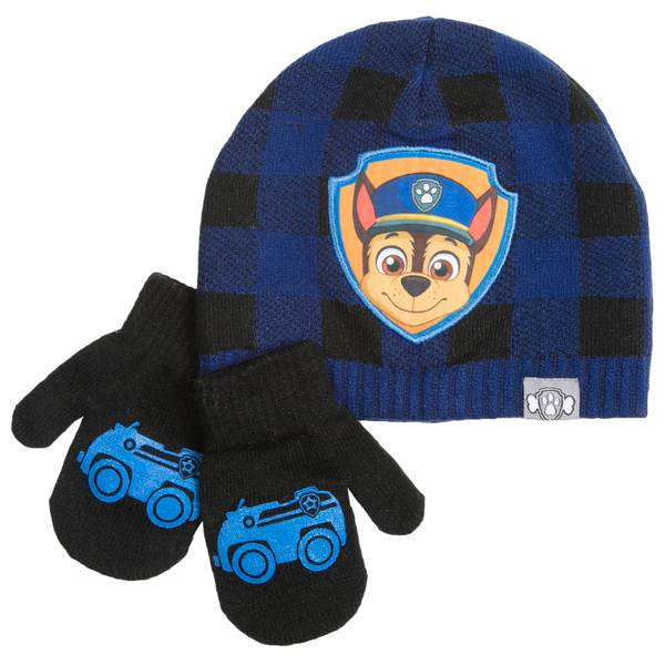 Toddler Boys' Chase Beanie & Mittens Set