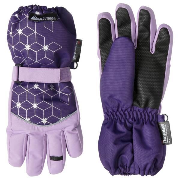Girls' Star Ski Gloves