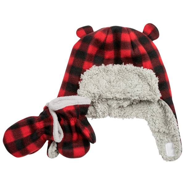 Infant Boys' Buffalo Check Pilot Hat