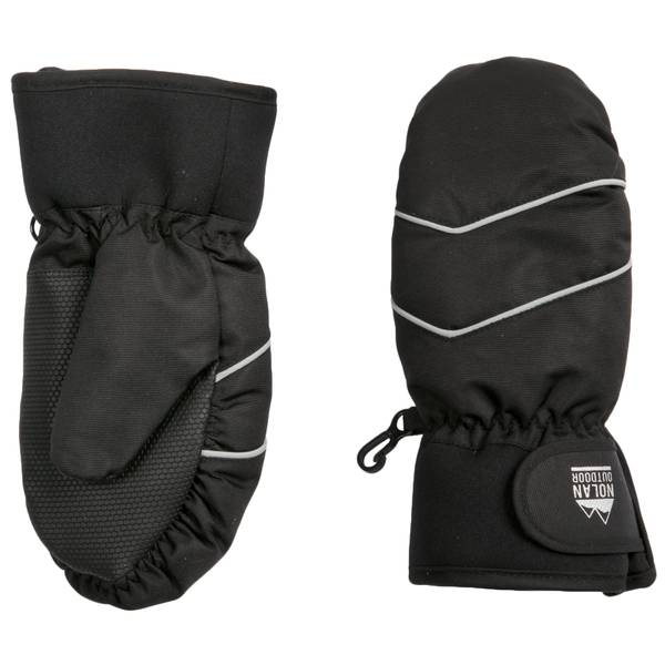 Boys' Black Ski Mittens