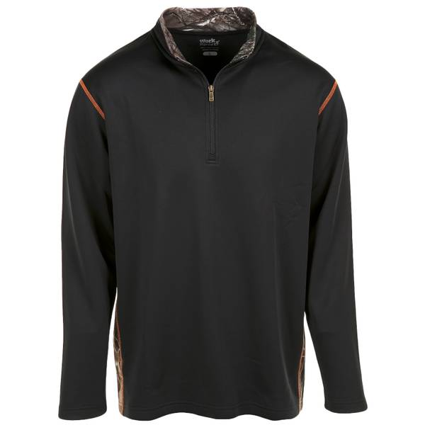 Men's 1/4 Zip Camo Inset Fleece