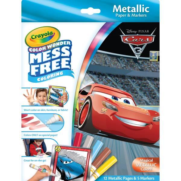 Color Wonder Cars 3 Metallic Pad & Markers