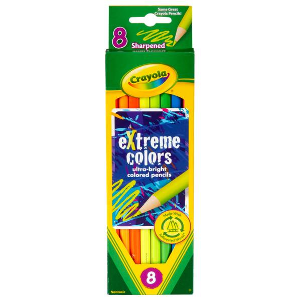 8-Count Extreme Colored Pencils