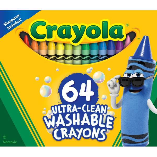 64-Count Washable Crayons