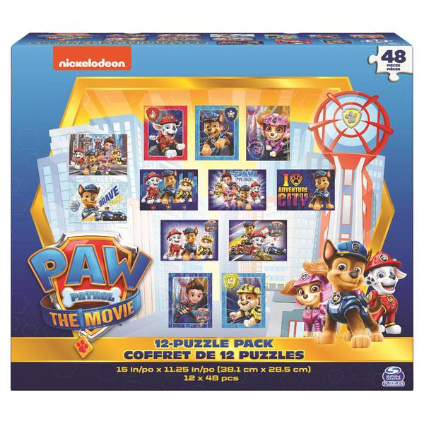 12-Pack Licensed Kids Puzzle Pack Assortment