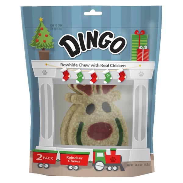 2-Pack Holiday Reindeer Rawhide Chew