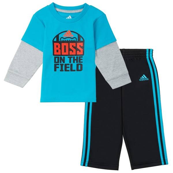 Boys' Blue & Navy 2-Piece Boss Set