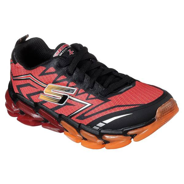 Boy's Red & Black Skech Air 4 Shoes