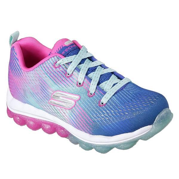 Girl's Blue & Hot Pink Skech-Air Bounce N Bop Shoes