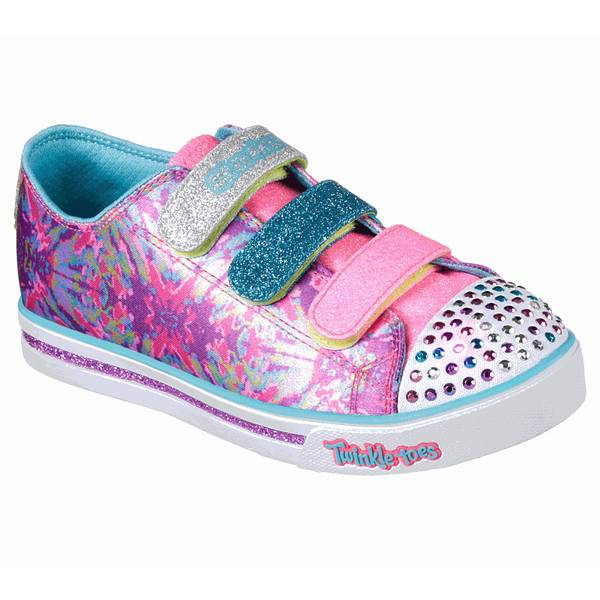 Girl's Hot Pink & Multi-Colored Shuffles Sparkle Glitz Pop Party Shoes