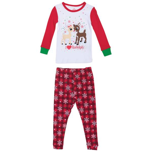 Toddler Girls' Clarice I Love Rudolph Cotton Pajamas