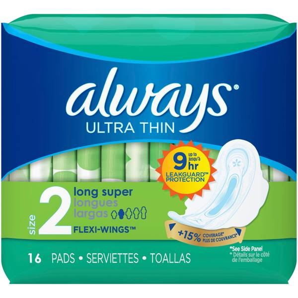 Always Ulta Thin Sport Sanitary Pads with Wings