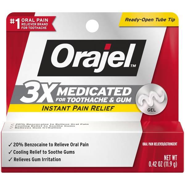 Instant Toothache Pain Relief Maximum Strength Gel
