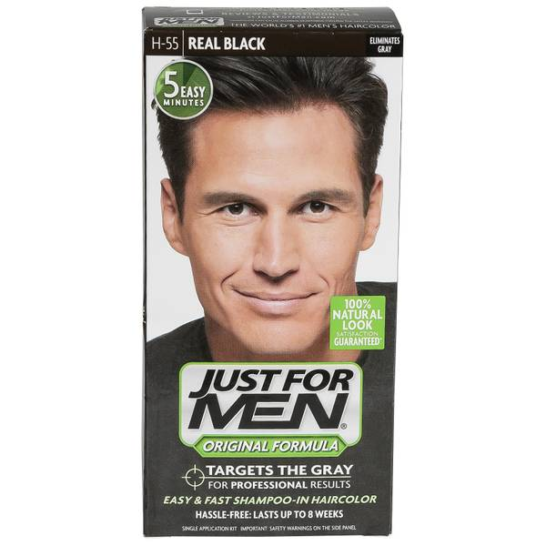 just for shoo in hair color real black 55 1 just for men
