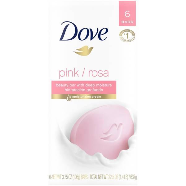 Dove Soap Pink 6 Bar