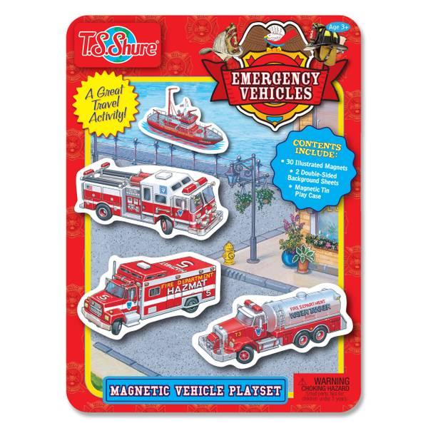 Emergency Vehicles Magnetic Tin