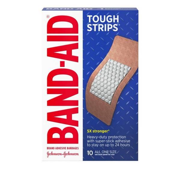 Band-Aid Brand Tough-Strips Adhesive Bandages, Extra Large