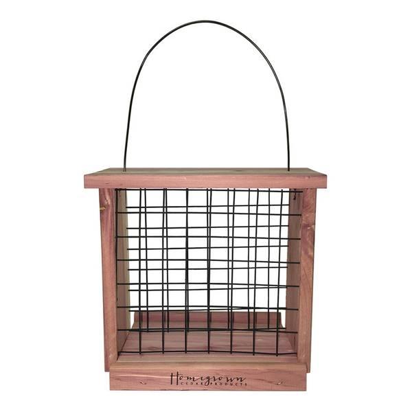 Premium Cedar Suet Bird Feeder