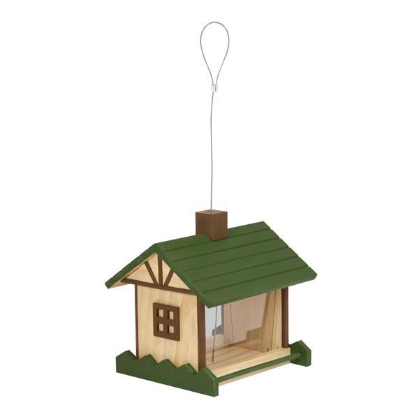 Mountain Lodge Wood Bird Feeder