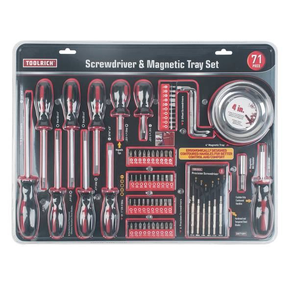 71-Piece Screwdriver & Magnetic Tray Set