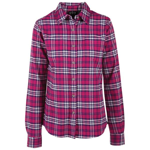 Women's Stretch Flannel Plaid Shirt