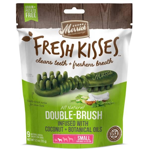 Fresh Kisses All Natural Double-Brush Dental Dog Treats