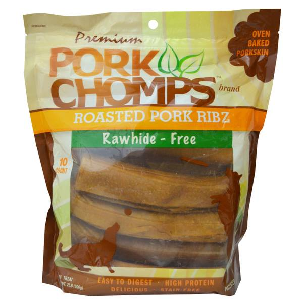 Premium Pork Chomps Roasted Ribz Dog Treats