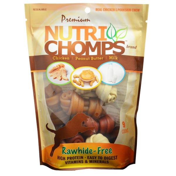 Nutri-Chomps Chicken, Milk & Peanut Butter Flavored Dog Chews