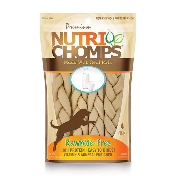 Nutri-Chomps Chicken & Milk Flavored Dog Chews