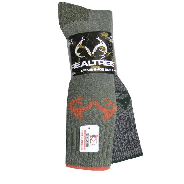 Realtree Men's Heavy Merino Wool Boot Socks
