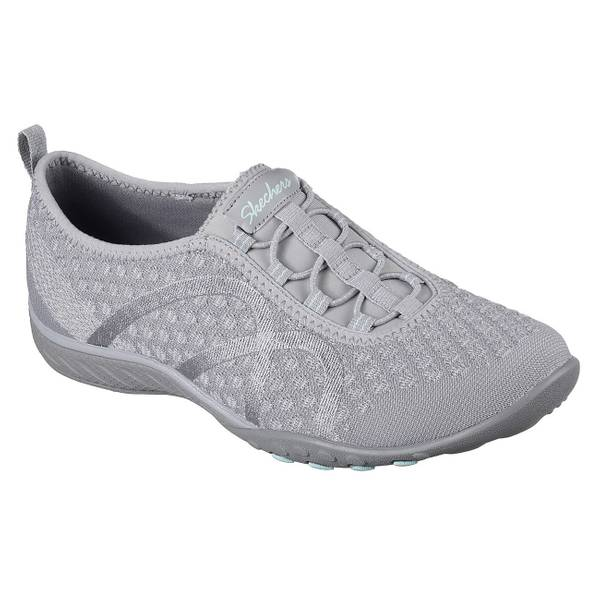 Women's Gray Relaxed Fit: Breathe Easy - Fortune-Knit Shoes