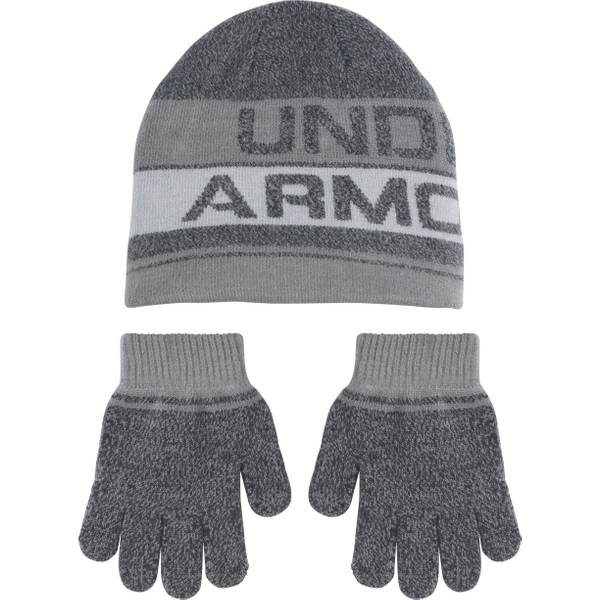 Knit Beanie and Glove Set
