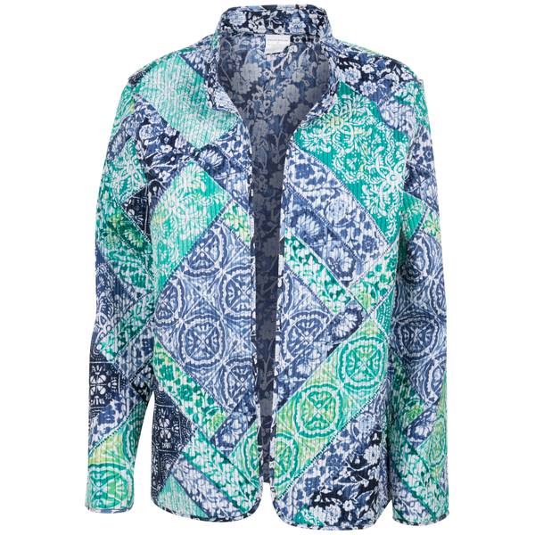 Misses Scroll Patch Quilt Jacket