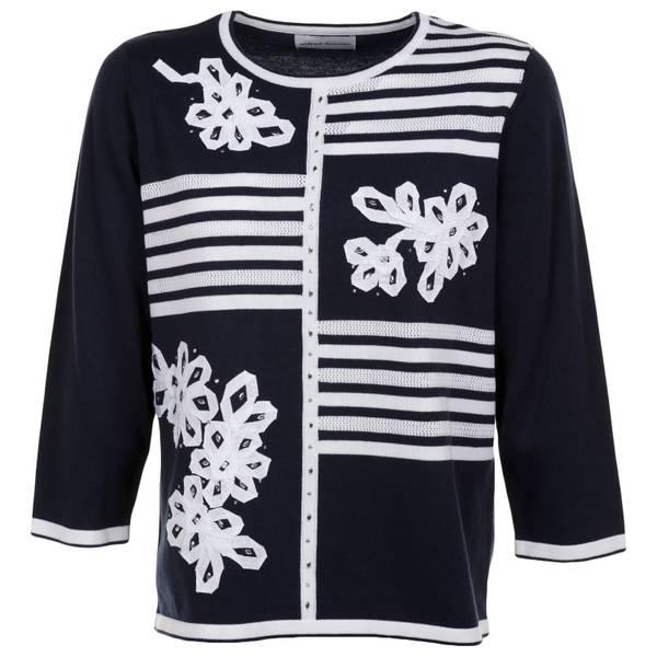 Misses Blocked Stripe Sweater