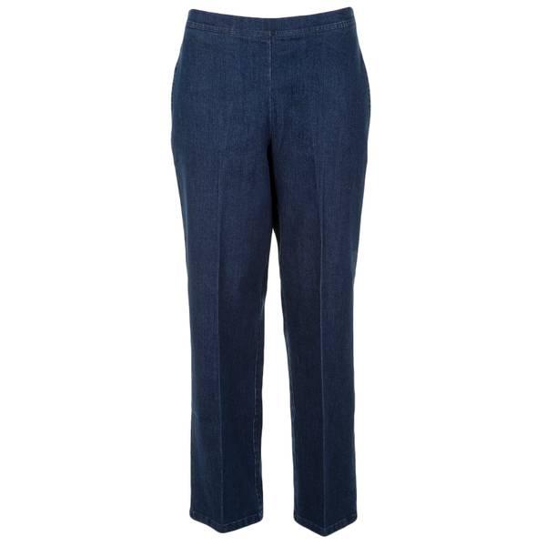 Women's Flat Front Proportioned Medium Denim Pants