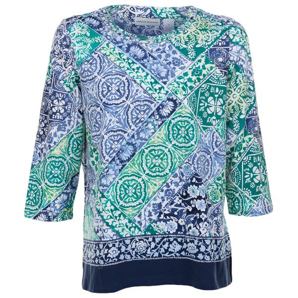 Women's Patchwork Short Sleeve Top