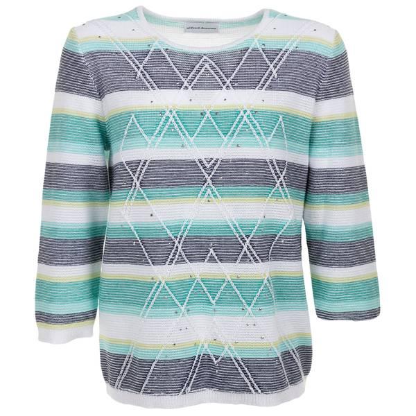 Women's Stripe Textured Sweater