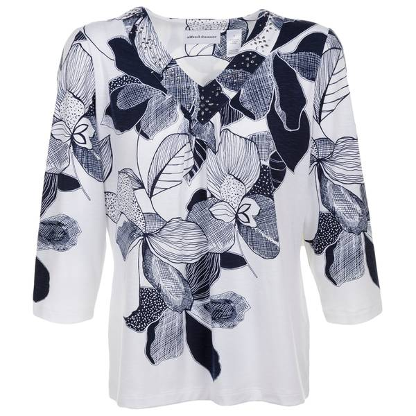 Petite Etched Floral Top