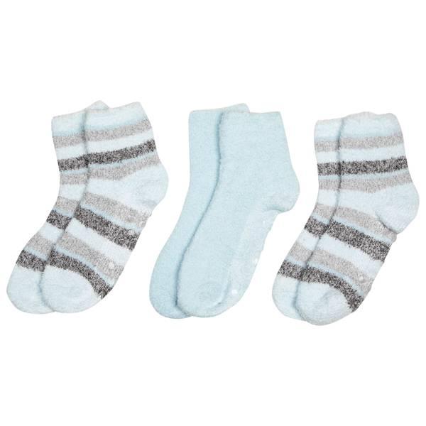 Women's Multi-Stripe Cozy Socks - 3 Pack