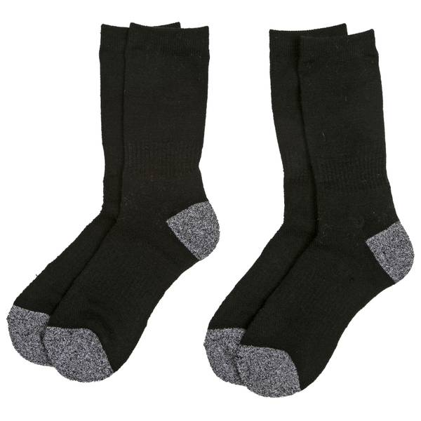 Women's Poly & Wool Boot Socks - 2 Pack