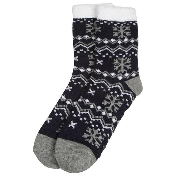 Women's Double Layer Chevron With Snowflakes Socks
