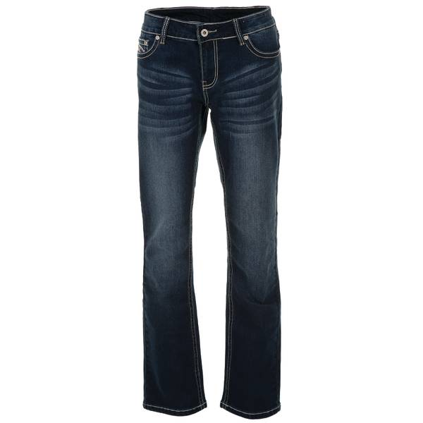 Misses Heavy Stitch Dark Wash Jeans