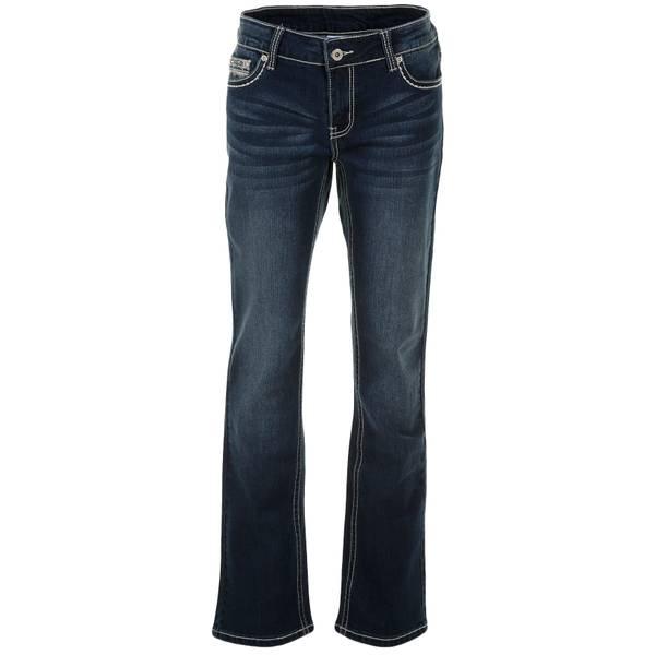 Misses Heavy Stitch Stone Pocket Jeans